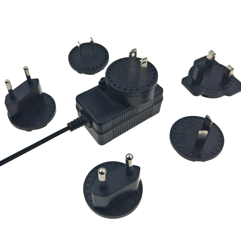 12.6W interchangeable AC plugs 18v 0.7a with UL CE approved