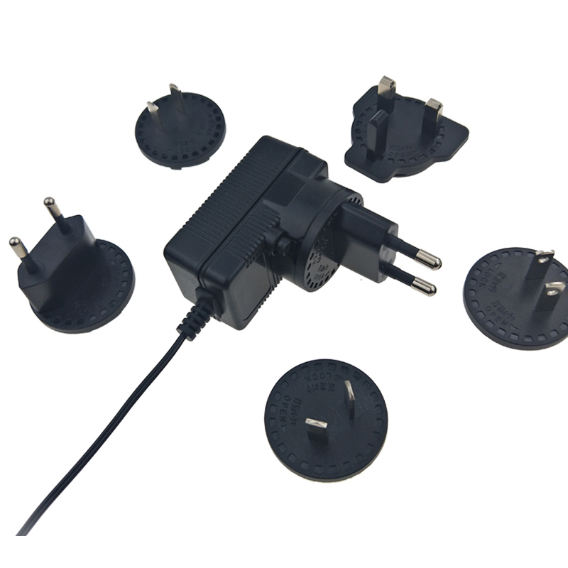 Interchangeable plugs 15V 1A Power Adapter