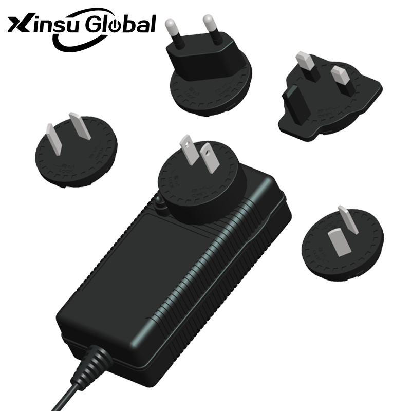 Interchangeable Plug 6V 5A AC DC Power Supply Adapter
