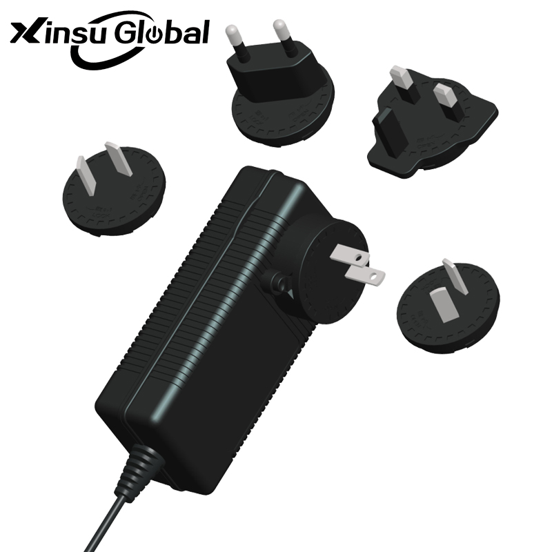 Interchangeable Worldwide Plug 30V 1.5A AC DC Adaptor