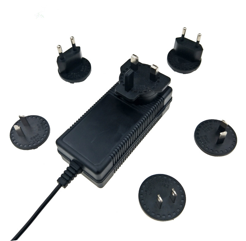 EN62368-1 58V 0.5A Interchangeable Plug AC Adaptor